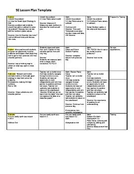 5e Lesson Plan Example Lesson Plan Format Lesson Plan Examples