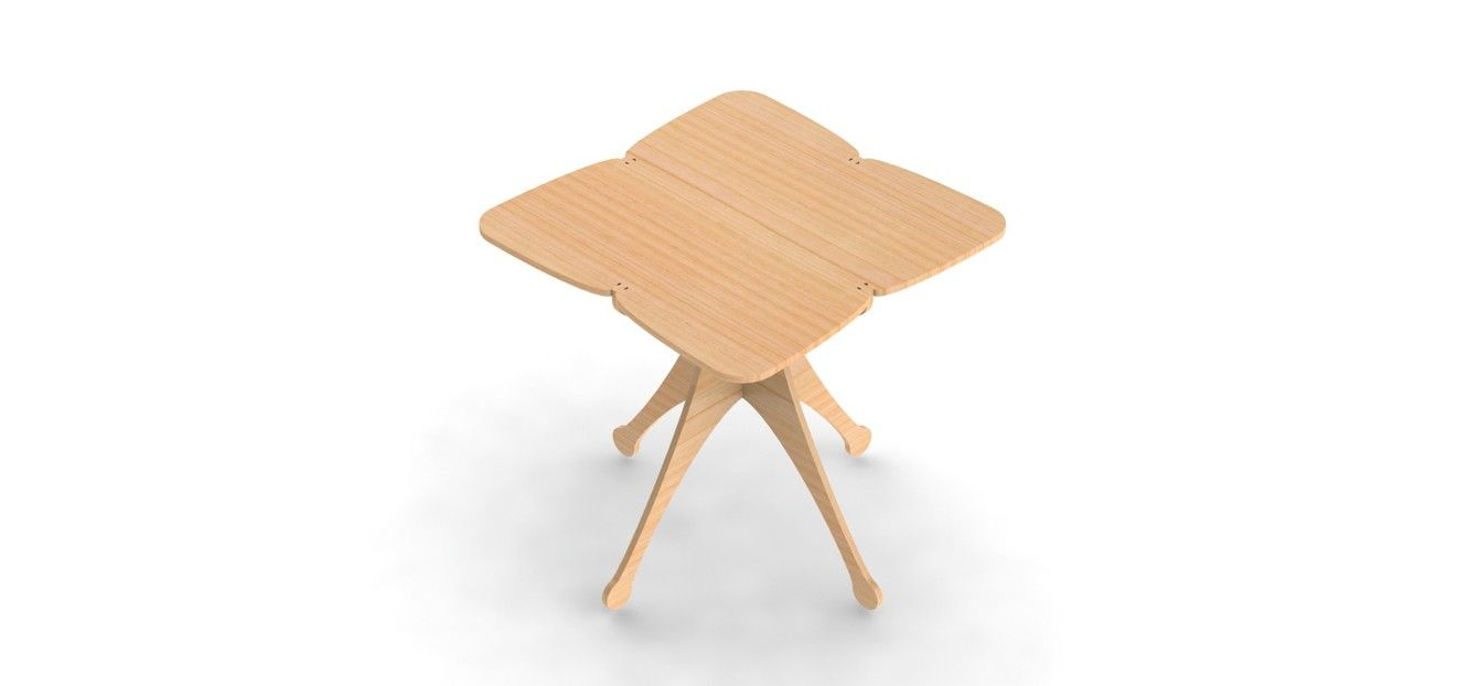 Table Design for CNC Router DXF File Vectors 2D Plans Woodworking