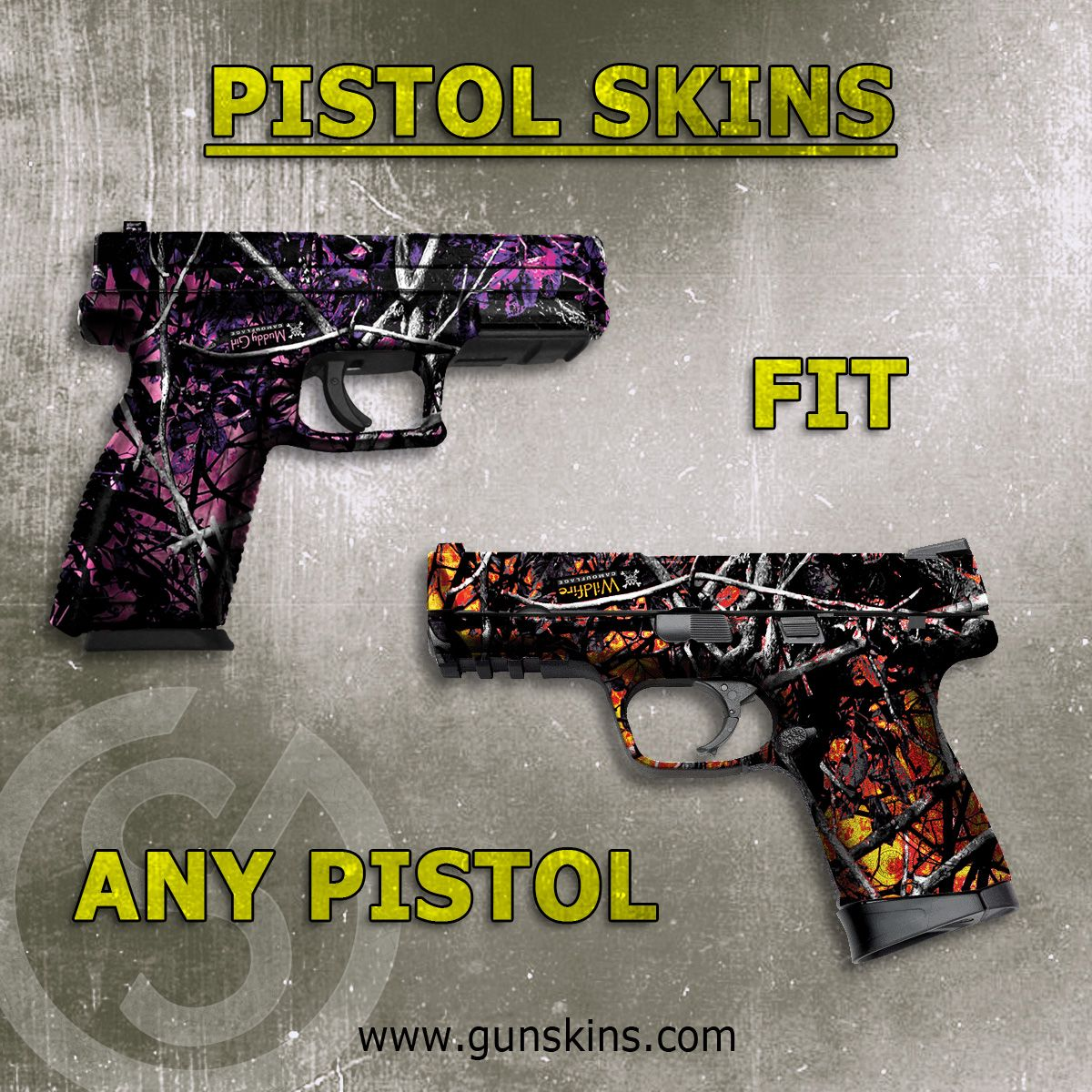 Pistol skin guns revolvers and airsoft pistol skins are a generic diy kit that can be applied to any pistol under solutioingenieria Gallery