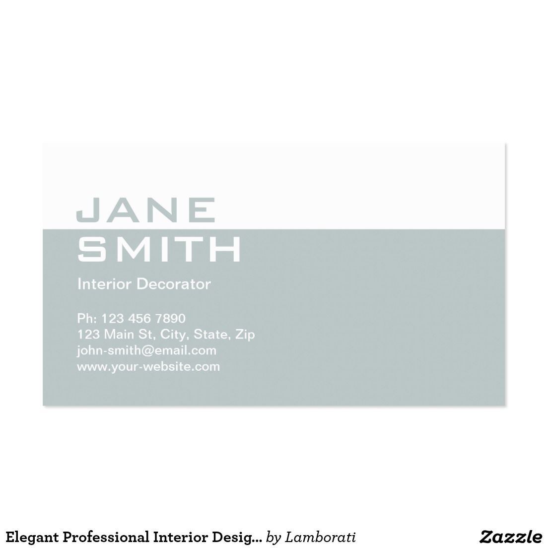 Elegant Professional Interior Design Decorator Business Card