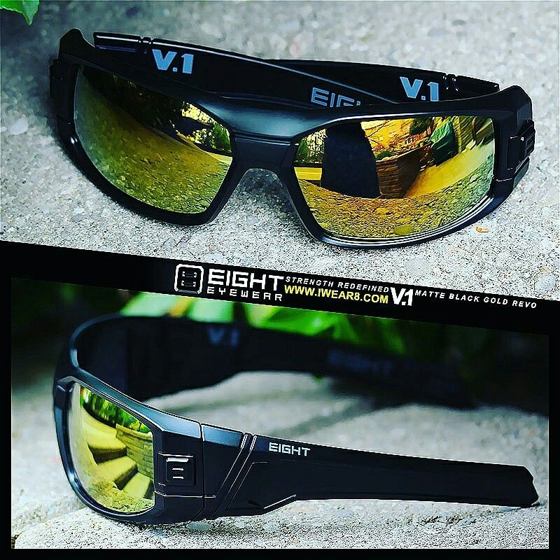 0dea18cd4c Matte Black Gold REVO www.IWEAR8.com. Find this Pin and more on EIGHT  Eyewear ...