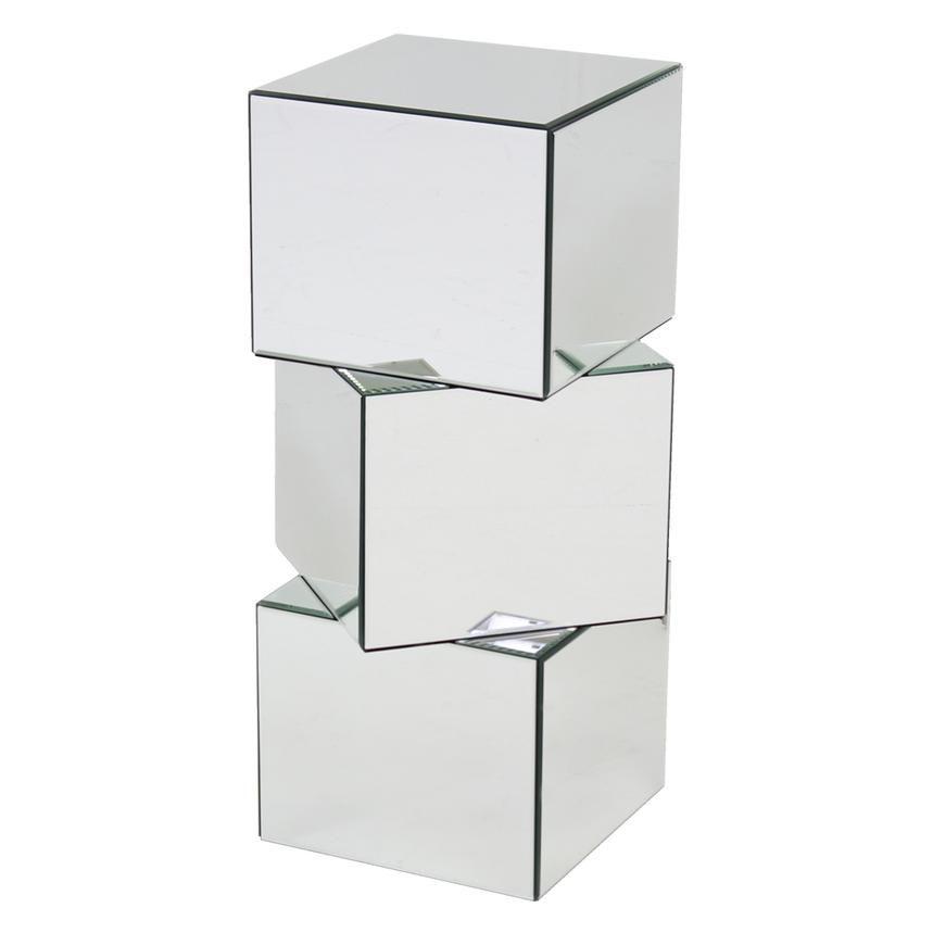 Cubic Pedestal Pedestal Wood Mirror Glass Material