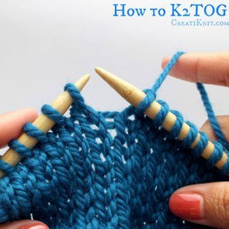 Photo of How to K2tog and P2tog (knit 2 Together, Purl 2 Together)
