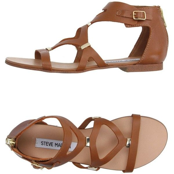 Steve Madden Sandals ($64) ❤ liked on Polyvore featuring shoes, sandals,  brown