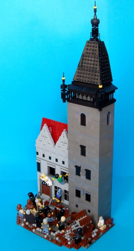 A Lego diorama of the First Defenestration of Prague. I don't even know what historical event this is, but it does demonstrate how obsessed some people (both my boys, now 11 and 13, two LONG years ago) can become with Legos.