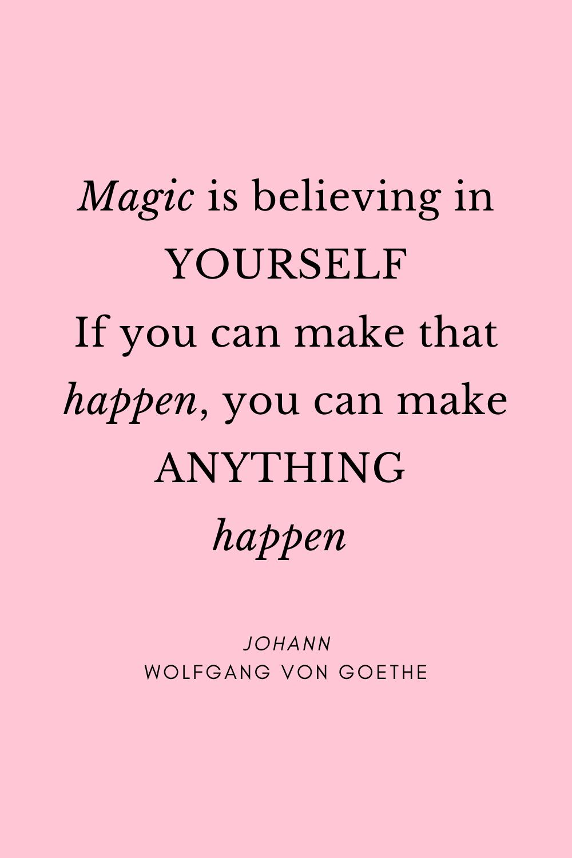 Photo of Magie ist an sich selbst zu glauben