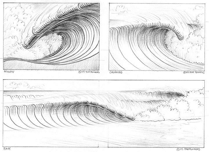 Remember, there are millions of ways to draw a wave and