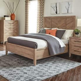 Scott Living White Washed Natural California King Panel Bed 204611Kw Good Looking