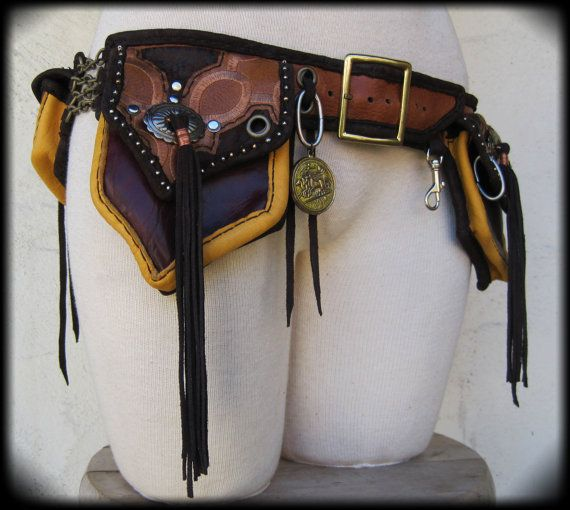 "Native American Indian Steam Punk Industrial Revolution Utility Belt ""made to order, made to fit"""