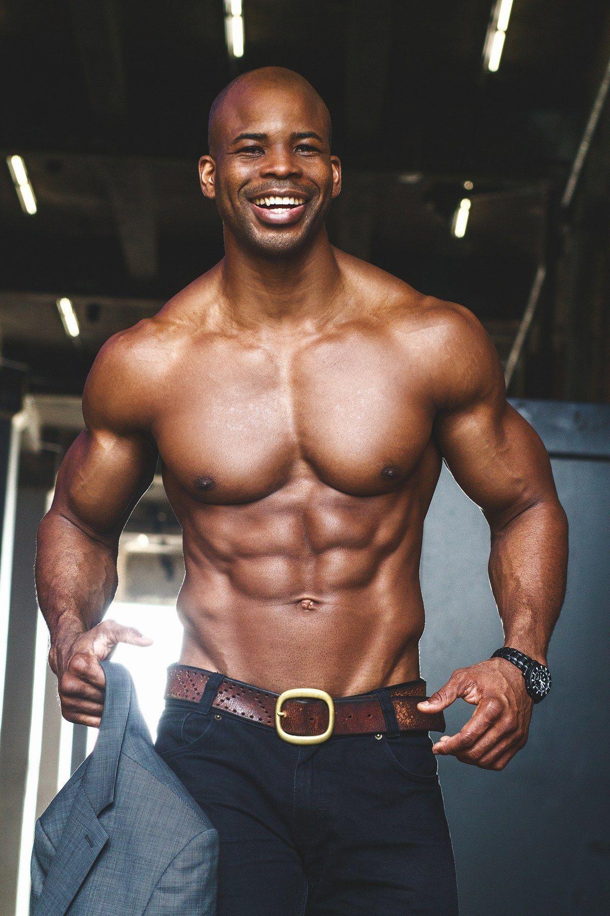 Black male fitness model