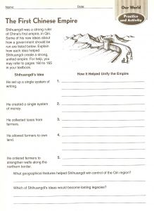 Worksheets about China