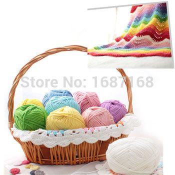 5pcs/lot Crocheting Yarn Soft Yarns Thick Milk Cotton Yarn For Hand Knitting Crochet Free Shipping