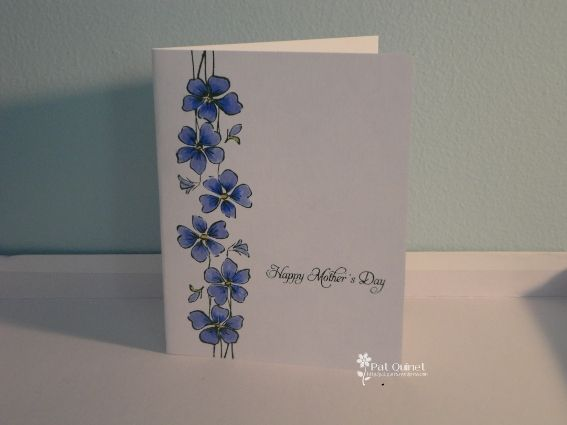 mothers day card operation write home | Violet Mothers Day