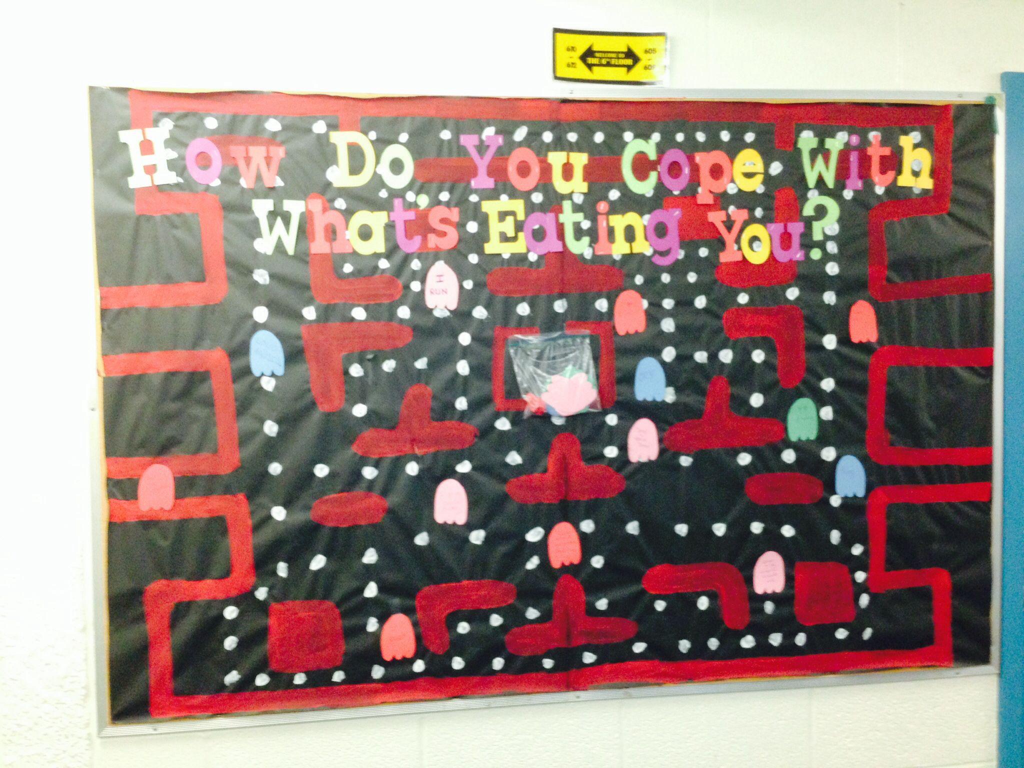 PAC man themed - coping skills board