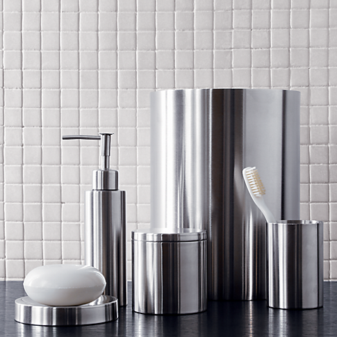 Stainless Steel Tissue Box Cover Steel Bath Stainless Steel Canisters Bath Accessories