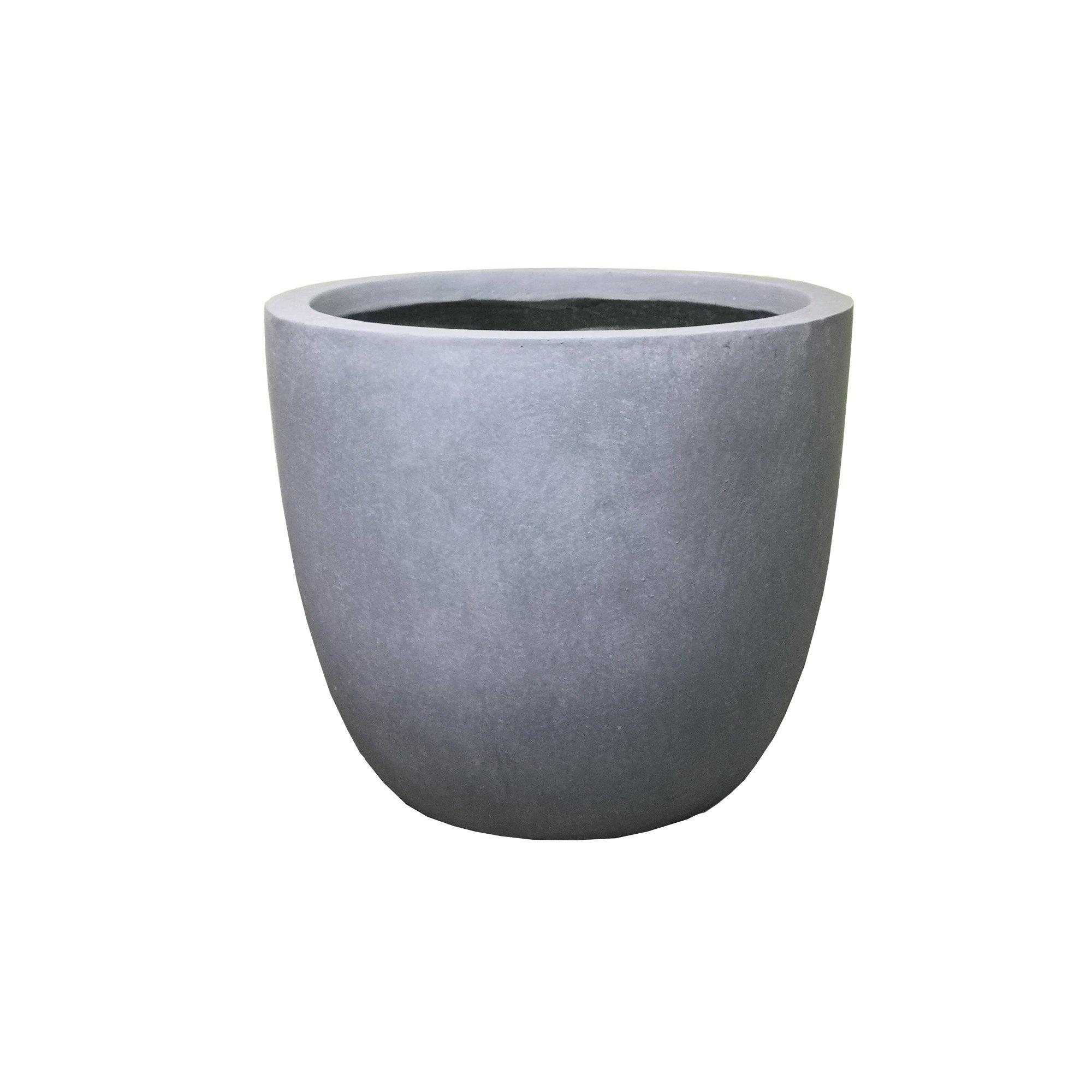Durx Litecrete Lightweight Concrete Modern Seamless Round Cement Color Planter Medium 13 8 X13 8 X11 8 Modern Planters Outdoor Modern Outdoor Cement Color