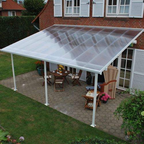 Feria 28 Ft W X 13 Ft D Plastic Standard Patio Awning Patio Canopy Patio Awning Patio Design