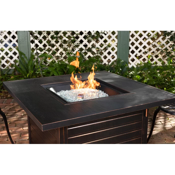 Everly Aluminum Propane Fire Pit Table In 2020 Propane Fire Pit Table Fire Pit Table Propane Fire Pit