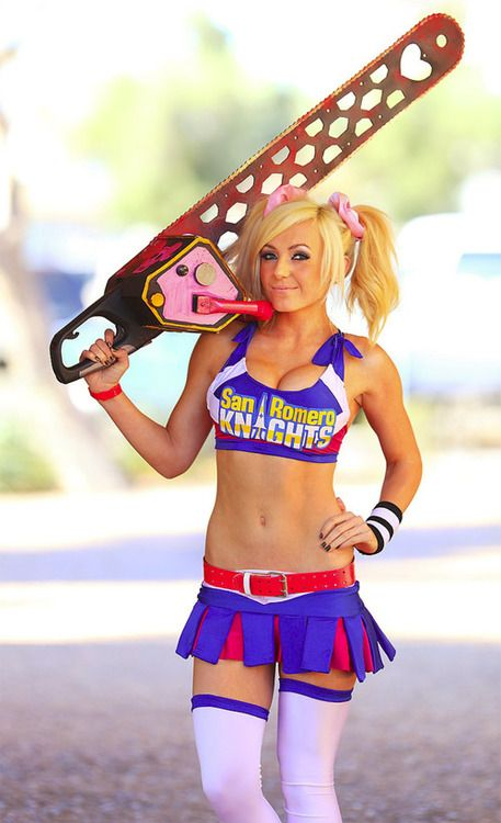 Lollipop Chainsaw Cosplay Juliet Costume Blue Sweet Girl Uniform Halloween Cute