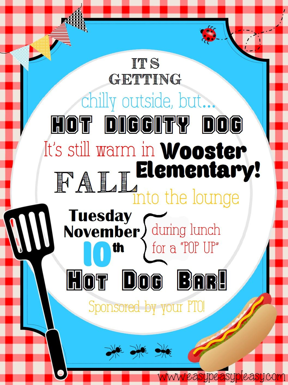 teacher appreciation lunch ideas hot dog bar