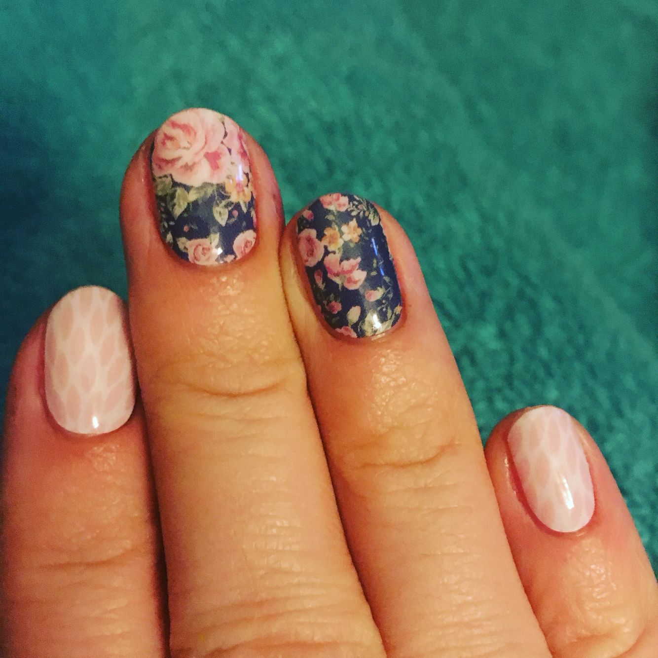 Jamberry Nail Wraps! Dusty Floral and Rose Quartz Lotus with ...