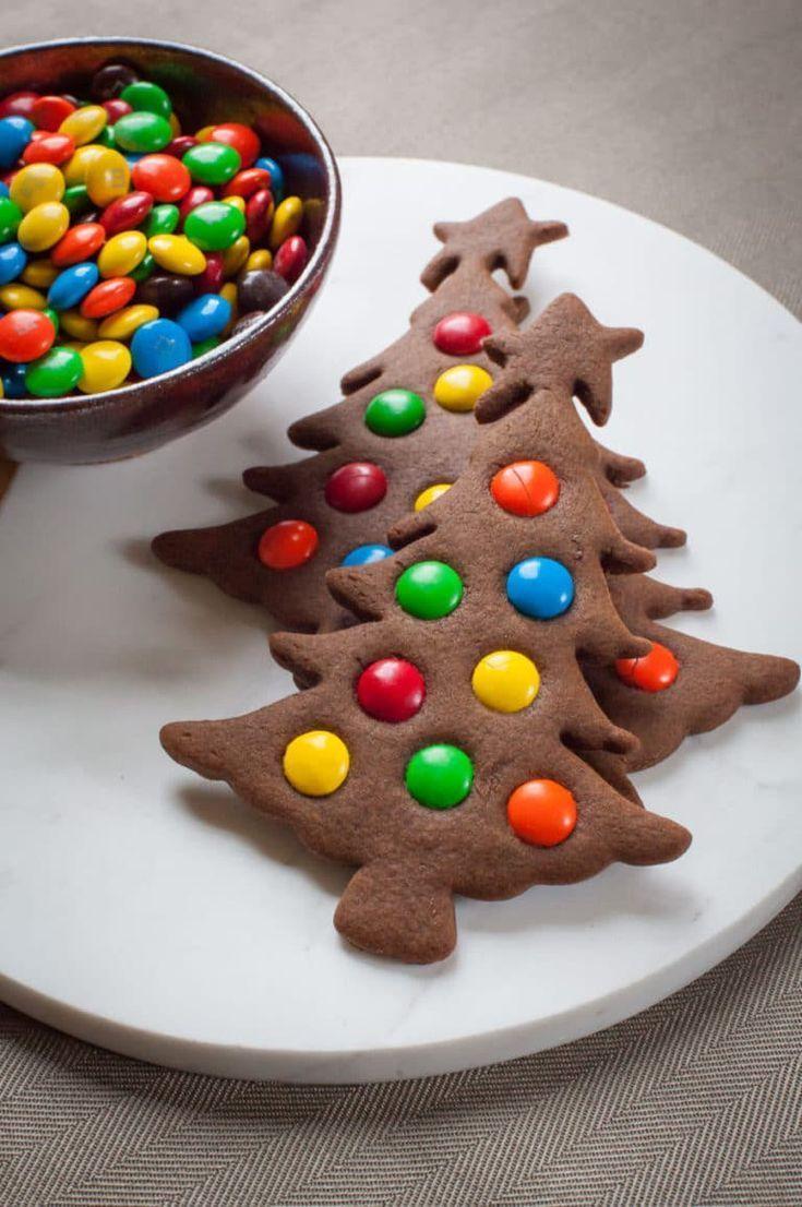 Gingerbread Christmas Tree Cookies #lebkuchen #platzchen #christmas tree