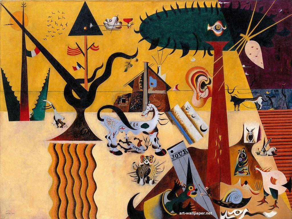 "Joan Miró i Ferrà (Spanish, 1893-1983), ""The Tilled Field"" 1923–1924, Solomon R. Guggenheim Museum"