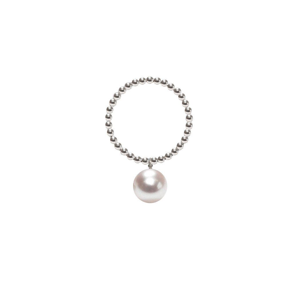 ORA Pearls Classic Sterling Silver White Pearl Necklace DLWJe9