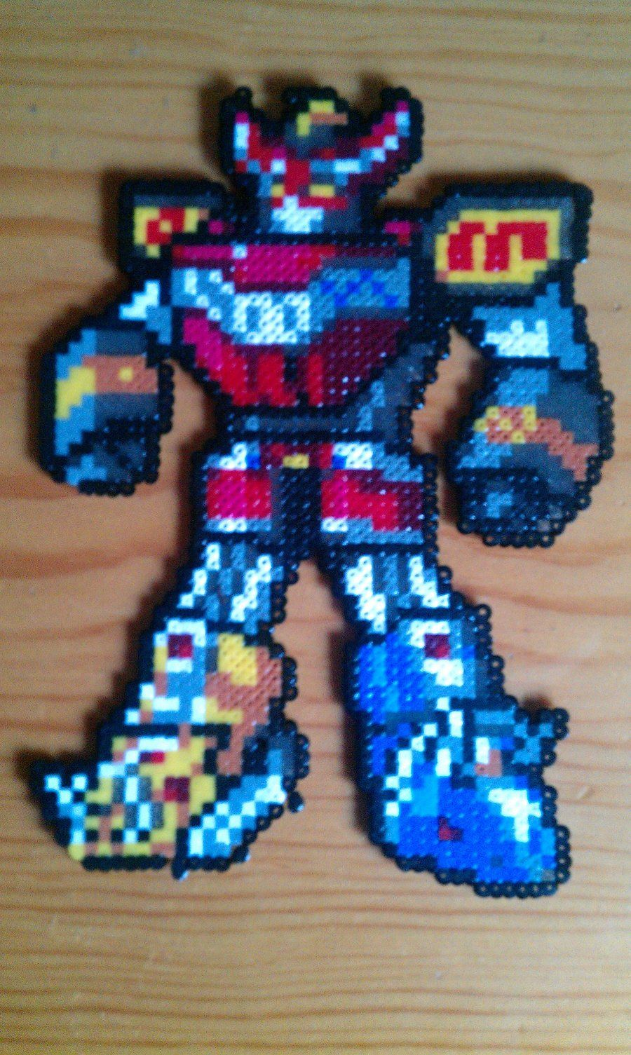 Megazord Hama By Gandull Mini Hama Beads Pixel Art Geek
