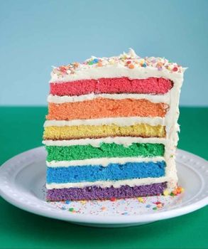 Rainbow Cake Recipe And Directions So Pretty Cool I Would Probably Mess This Up Completely Haha