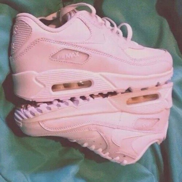 free shipping cb162 5b51f shoes, sneakers, pink sneakers, nike, nike air max 90, air max, low top  sneakers, nike sneakers, nike shoes, pastel pink, pink nike trainers -  Wheretoget