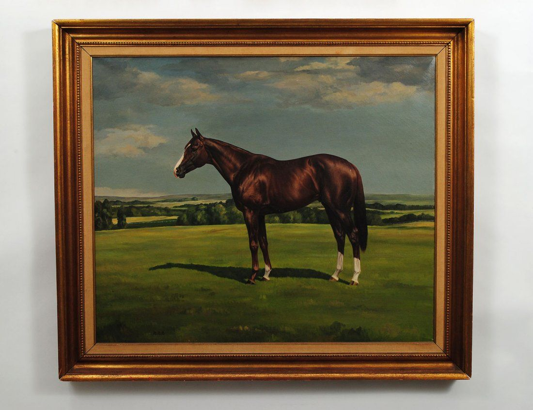 "JAMES NELSON SLICK (American. 1901-1979) ""Portrait of a Thoroughbred""."