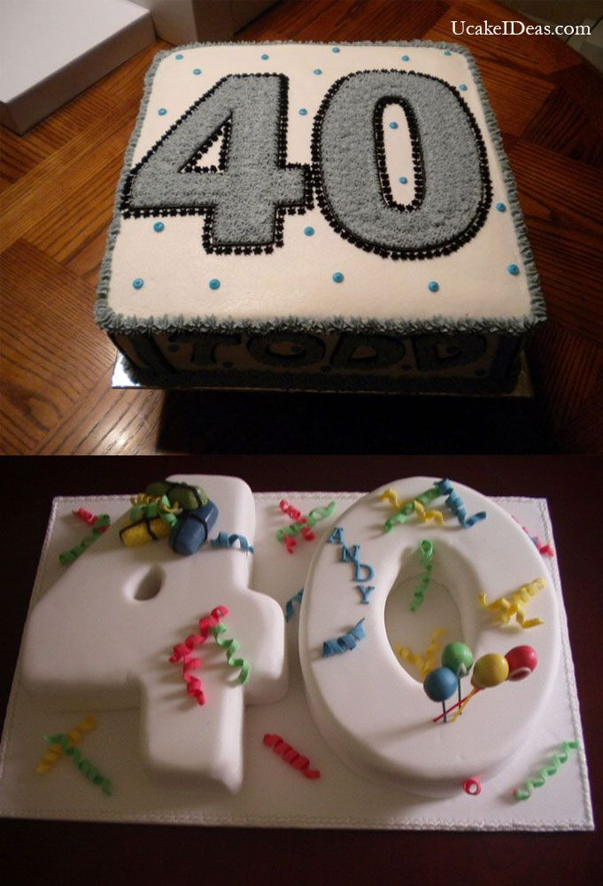 The Aspect Of Color And Age For Mens Birthday Cake Ideas 40th