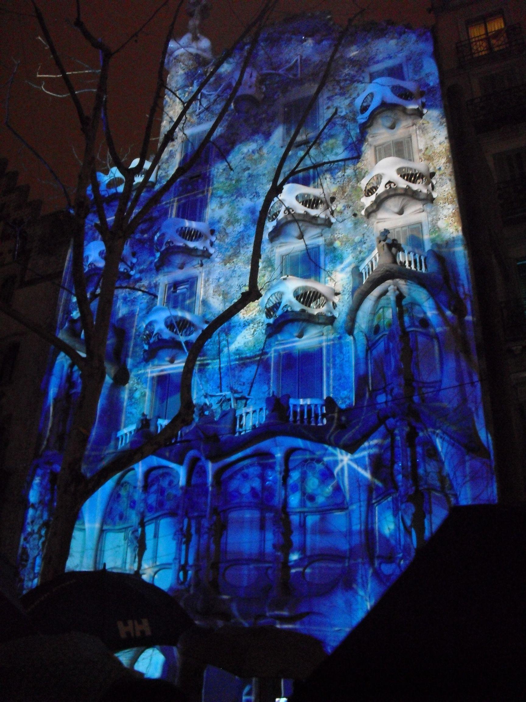 #mapping during la mercé in #Barcelona Casa Batlló