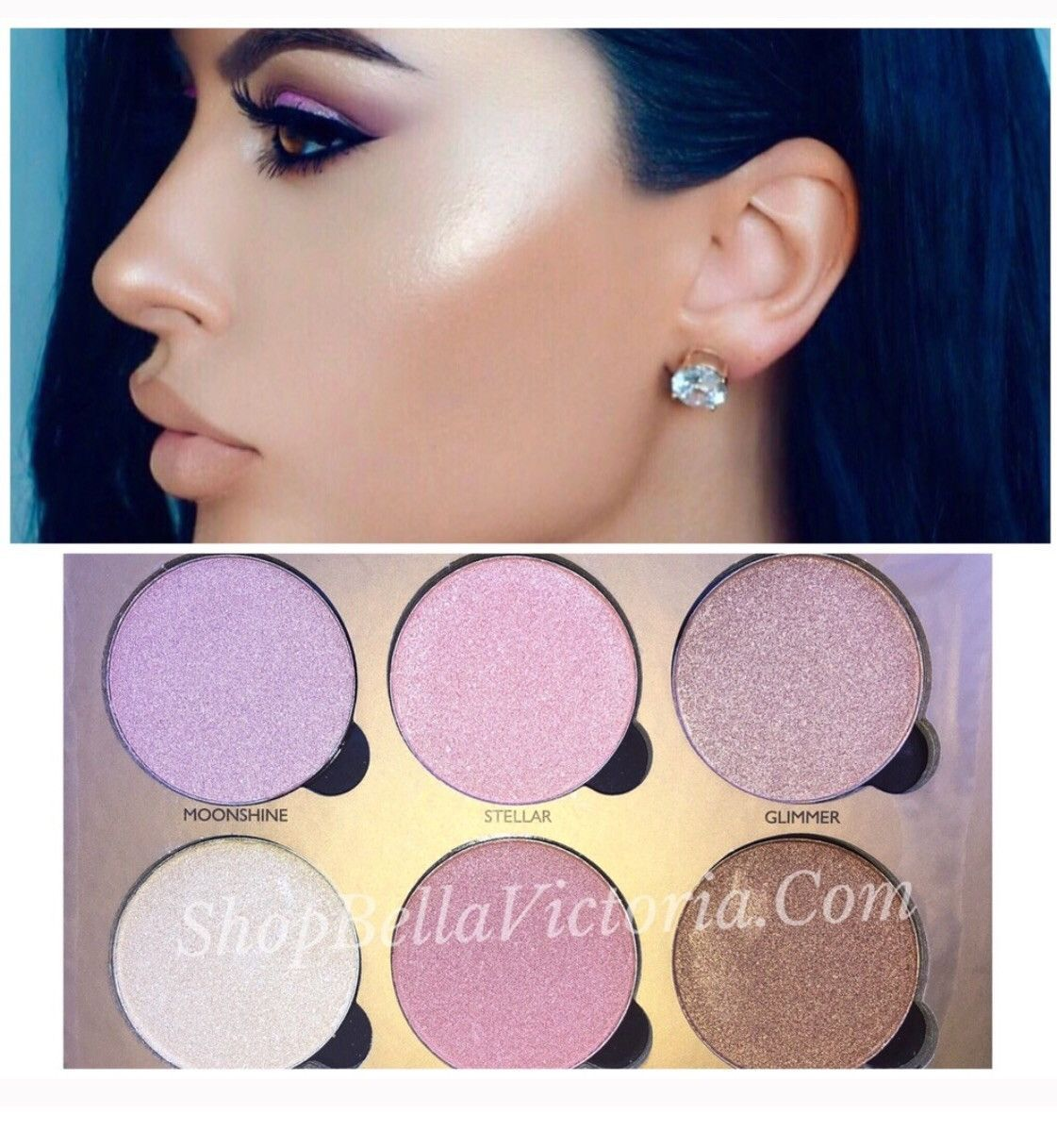 Sparkle shine glitter hair and makeup feathers shimmer - Glowing Highlight Shimmer Palette Okalan