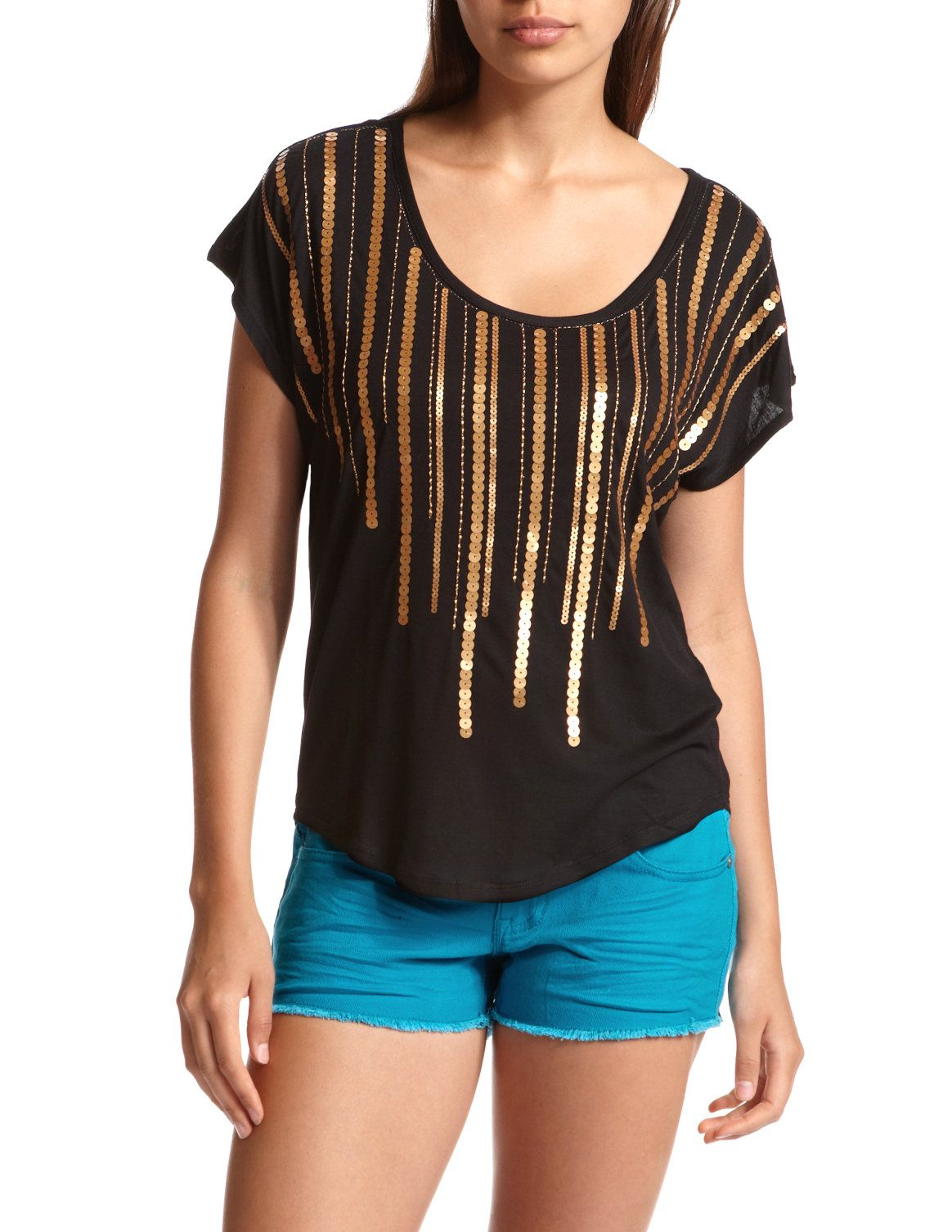 Horizontal Sequin Knit Top