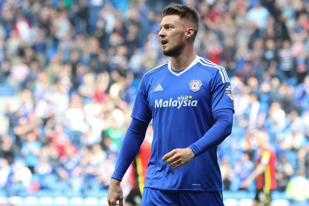 Anthony Pilkington Wearing The New Cardiff City 2016 17 Kit At The