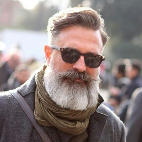 full beard, and handlebar moustache, action. | Beard ...