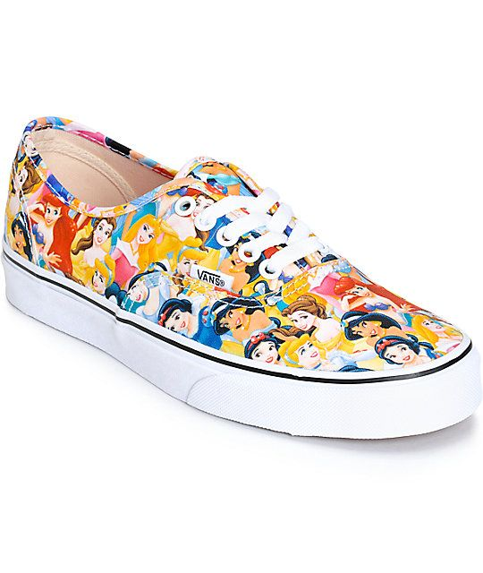 1e6204d942d Step into royal inspired style with these Disney x Vans collaboration shoes  that feature a low top silhouette and a Disney Princess print canvas upper.