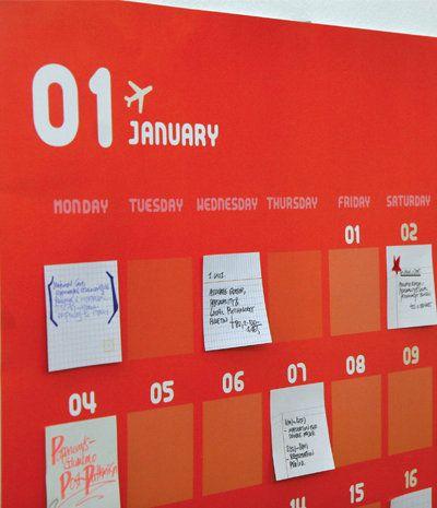 super smart post-it note calendar project