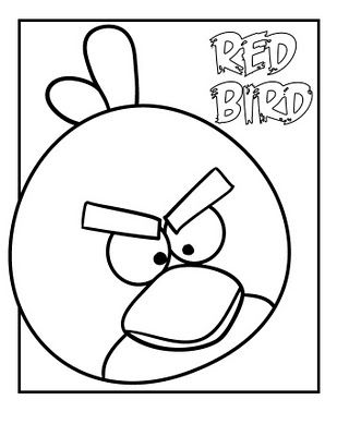 Angry Bird Coloring Page | cartoon and stuff i want to draw ...