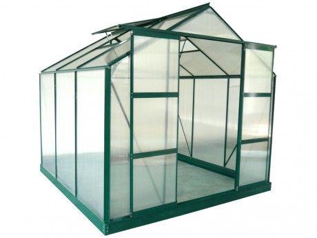 Serre De Jardin En Polycarbonate De 5 9 M Anissa Avec Embase Serre Jardin 9m2