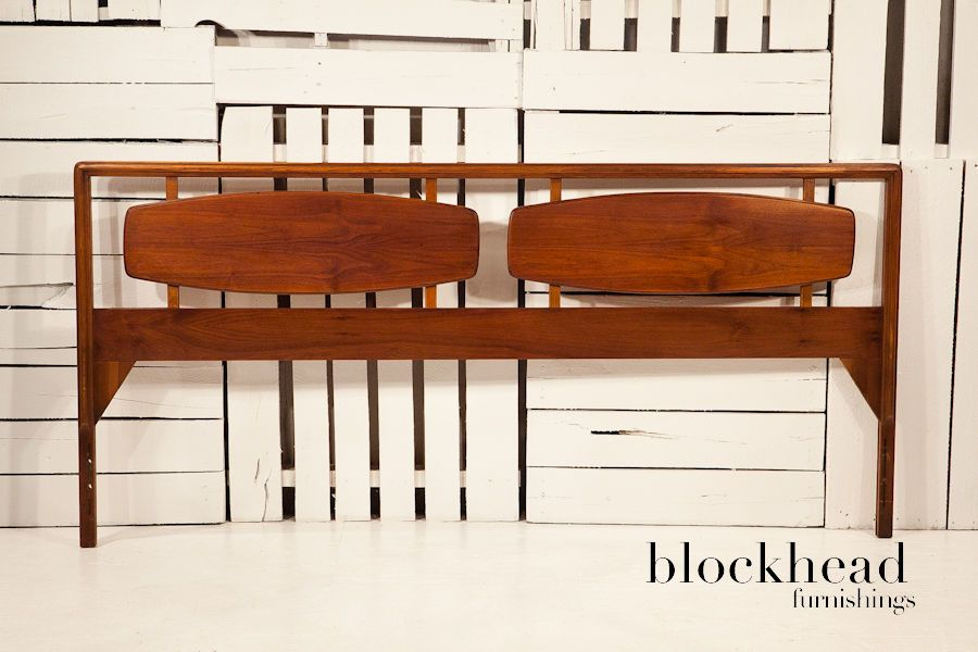 mid century danish modern walnut lane rhythm king size. Black Bedroom Furniture Sets. Home Design Ideas