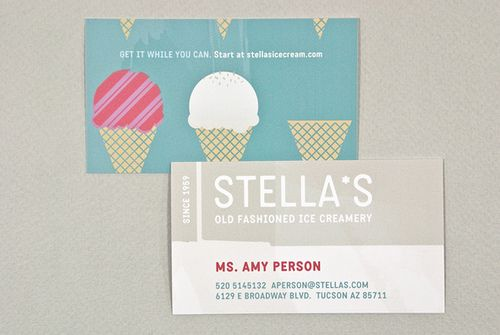 Graphic Ice Creamery Business Card Graphic Design Business Card Cool Business Cards Business Card Inspiration