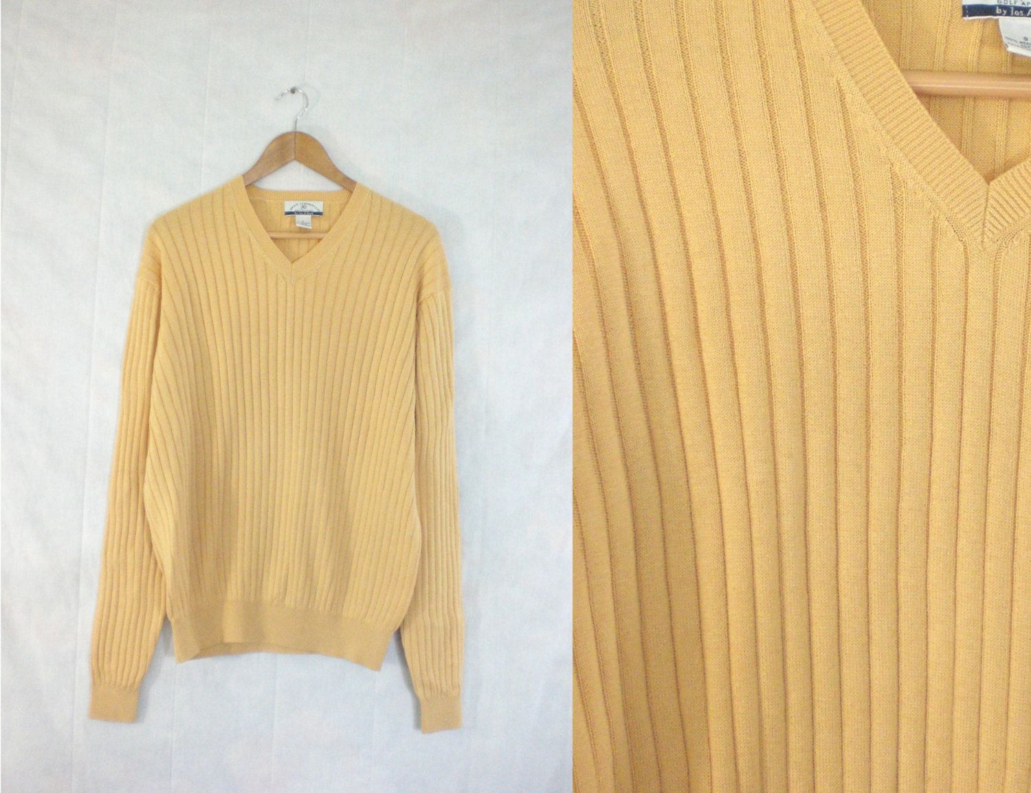 3eace01733 mens golf sweater size medium. mens v-neck sweater. 80s ribbed ...