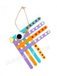 Popsicle Stick Tropical Fish