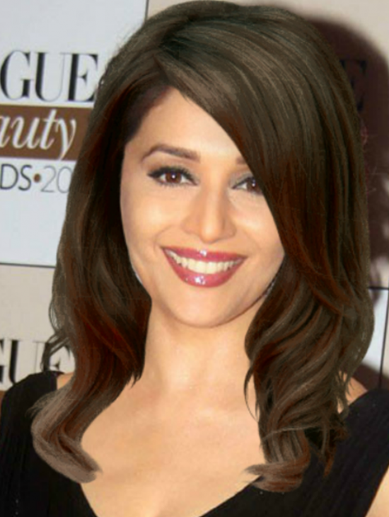 Madhuri Dixit Straight Hairstyle Png 550 730 Straight Hairstyles Hairstyle Madhuri Dixit
