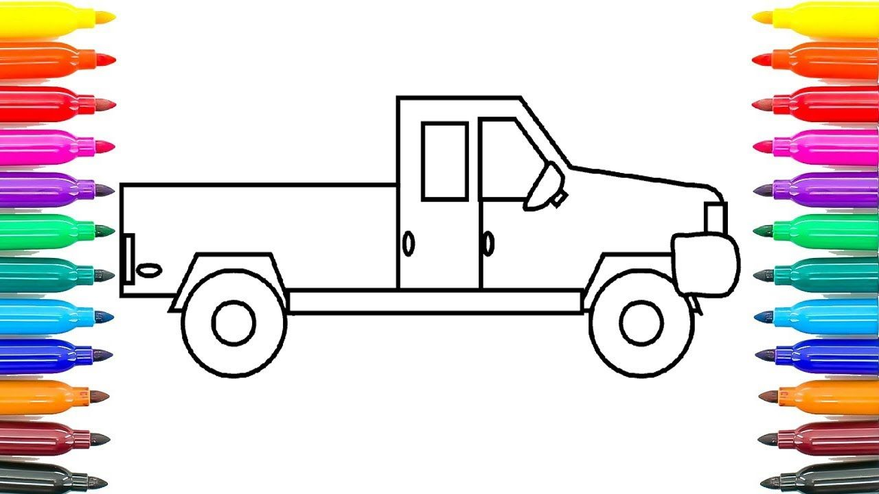 How To Draw Car Easy Step By Step Coloring Pages For Kids How To