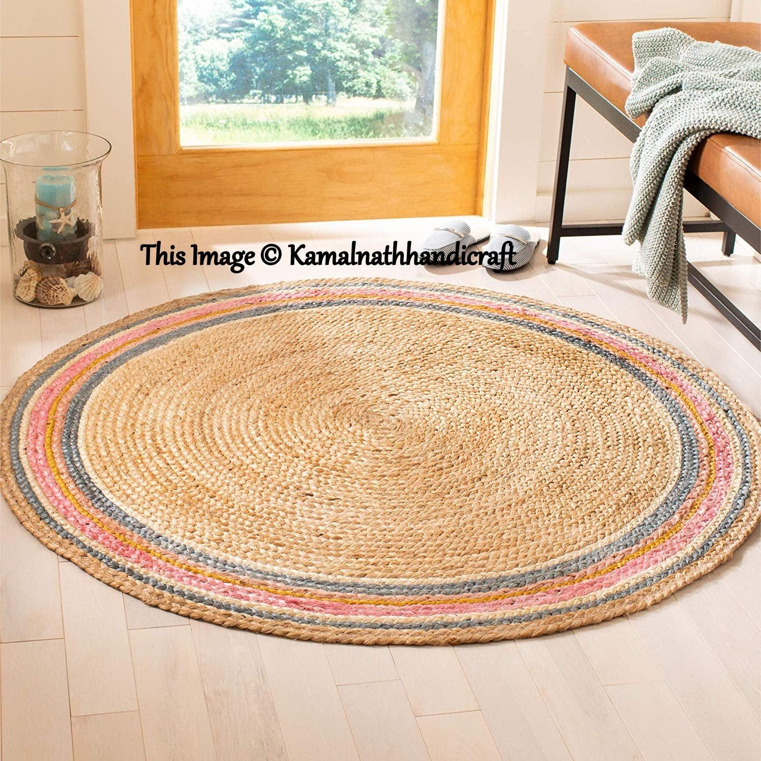 Extra Large Braided Chindi Round Rugs