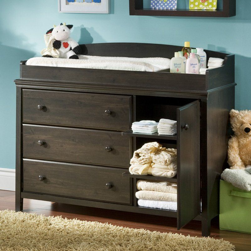 Nice South Shore Cotton Candy Ebony Changing Table Dresser